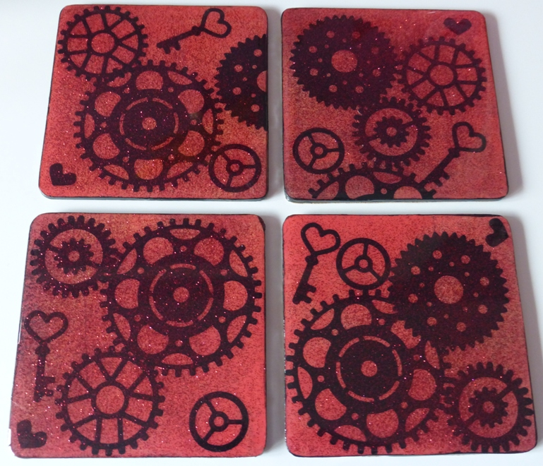 Bespoke Coasters - Cogs and Gears